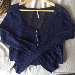 Free People Cropped Cardigan